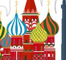 Russia, Moscow skyline. Kremlin Sticker