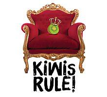 Kiwi King – Kiwis Rule! Photographic Print