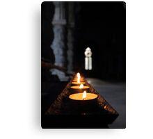 St Conans Kirk - Prayers Candles (interior) Canvas Print