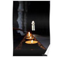 St Conans Kirk - Prayers Candles (interior) Poster