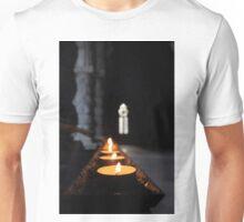 St Conans Kirk - Prayers Candles (interior) Unisex T-Shirt