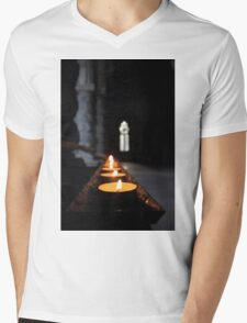 St Conans Kirk - Prayers Candles (interior) Mens V-Neck T-Shirt