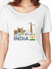 India, skyline. Taj mahal Women's Relaxed Fit T-Shirt