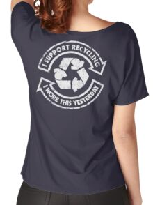 I support recycling Women's Relaxed Fit T-Shirt
