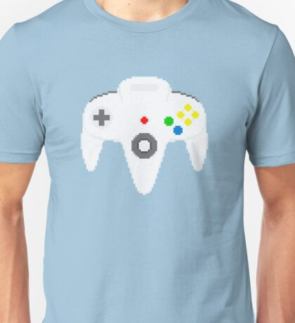 Nintendo 64 controller in pixelart Unisex T-Shirt