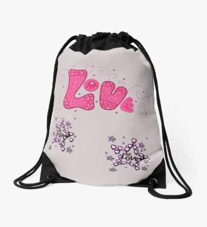 loving geeks designs Drawstring Bag