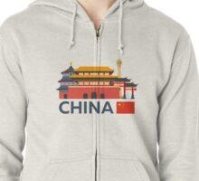 China, Beijing skyline Zipped Hoodie