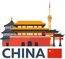 China, Beijing skyline Photographic Print