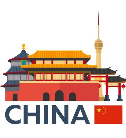 China, Beijing skyline Sticker