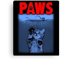 PAWS Kitten JAWS Parody Canvas Print