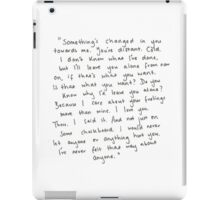 Tate Langdon Quote Print iPad Case/Skin