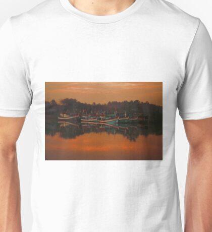 Chumphon river side at sunset, Thailand Unisex T-Shirt