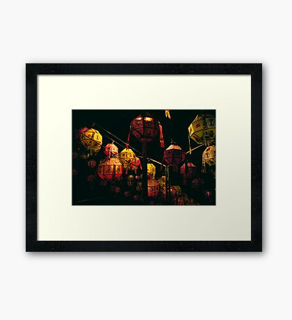Korean Lanterns Framed Print