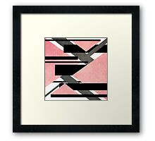 Scratched Canon Pink Framed Print