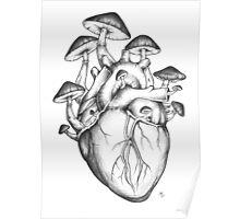 Mushroom Heart Poster