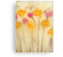 Yellow and Pink Flowers Abstract  Watercolor Print Painting Fine Art Print from Watercolor Painting Abstract Painting Art Watercolor Wall Art Canvas Print