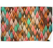 Colorful abstract triangles pattern Poster