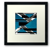 Scratched Canon Cyan Framed Print