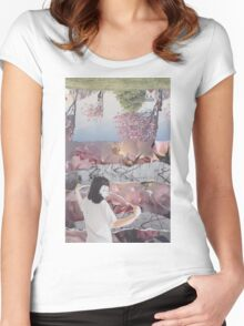 Floral Headache  Women's Fitted Scoop T-Shirt