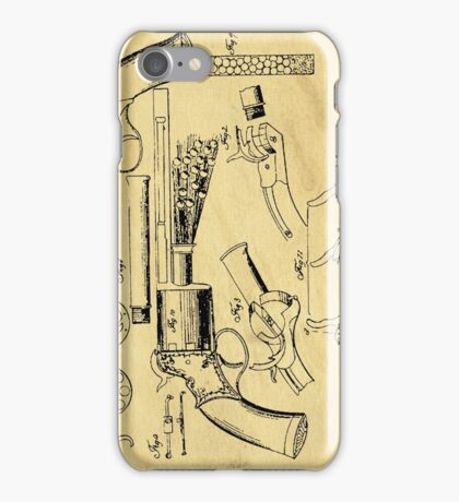 Revolver Support Patent Drawing From 1856  iPhone Case/Skin