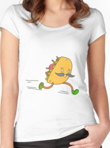 Taco run Women's Fitted Scoop T-Shirt