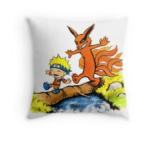 Homicidal Psycho Ninja Fox Throw Pillow