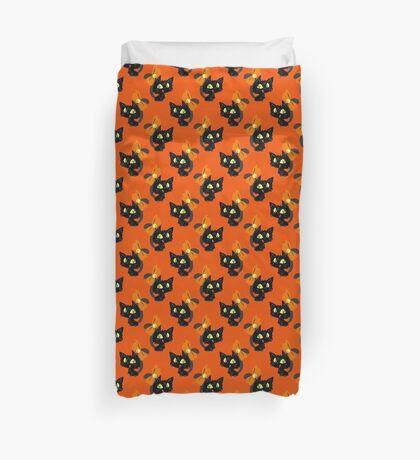 Ribbon Black Cat Pattern Duvet Cover