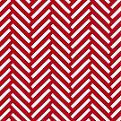 Deep Red Moroccan Art Print Pattern by Kelsorian