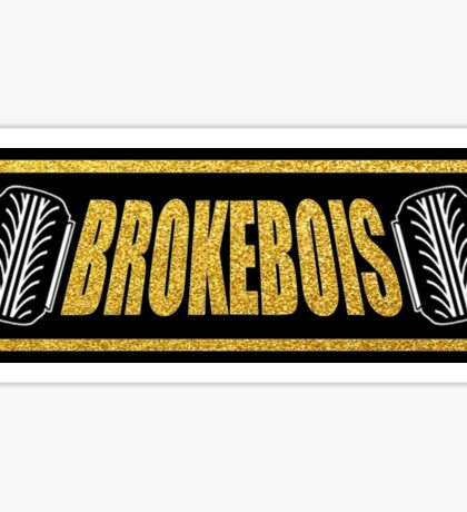 BrokeBois Slap Sticker - Black and Gold Sticker