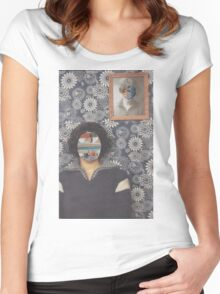 Mirrored on Wall Women's Fitted Scoop T-Shirt