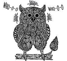 Ethnic abstract owl  Photographic Print