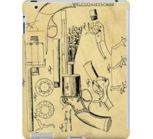 Revolver Support Patent Drawing From 1856  iPad Case/Skin