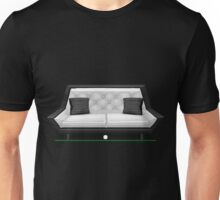 Glitch furniture loveseat pearl white quilted loveseat Unisex T-Shirt