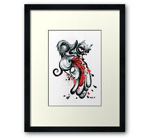 The Black Cat Framed Print