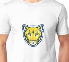 Cougar Mountain Lion Head Retro Unisex T-Shirt