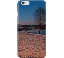 A winter wonderland sundown | landscape photography iPhone Case/Skin