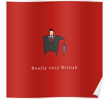 Really Very British Poster
