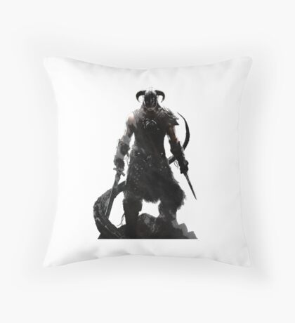Skyrim Dragonborn Throw Pillow