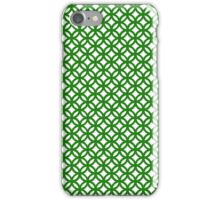Trellis,green,white,modern,trendy,interlaced,contemporary,geomtric,pattern iPhone Case/Skin