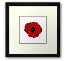 A Poppy for Remembrance Day Framed Print