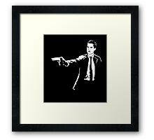 Twin Peaks Pulp Fiction Framed Print