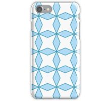 interlaced, trellis,floral,pattern,green,white,pale blue, modern,trendy iPhone Case/Skin