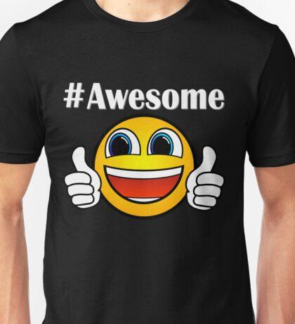 Hashtag Awesome Thumbs Up Emoji Unisex T-Shirt