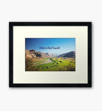 Wanderlust - Travel, Dream, Holidays, Nature, Landscape, Hike, Discover Framed Print