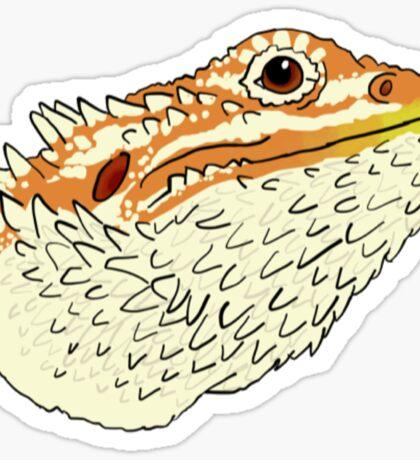 Colored Bearded Dragon Head Sticker