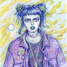 Self Portrait As A 28 Year Old In A Jean Jacket by brettisagirl