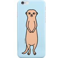 Happy Meerkat - plain background iPhone Case/Skin