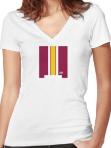 Skins Helmet Stripe Women's Fitted V-Neck T-Shirt