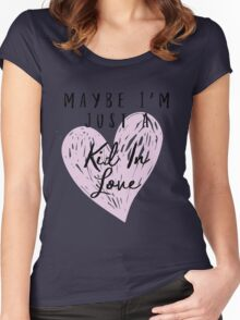 Shawn Mendes - Kid In Love Women's Fitted Scoop T-Shirt