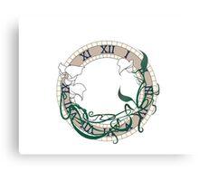 Calla Lily Clock Canvas Print